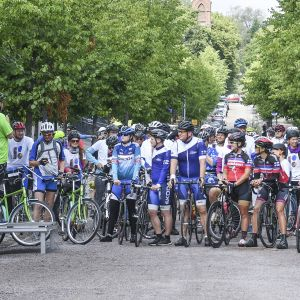 Eesti-Soome pyöräilytapahtuman avaus Helsingissä.