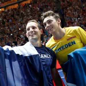 Renaud Lavillenie ja Armand Duplantis, EM-kisat Berliinissä 2018