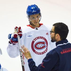 Jesperi Kotkaniemi Montreal Canadiensin leirillä kesällä 2018