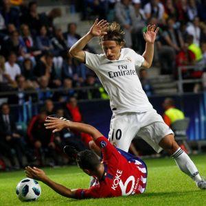 Luka Modric pelasi Realin paidassa aiemmin tällä viikolla, kun tuli tappio Super Cupissa paikallisvastustaja Atleticolle.