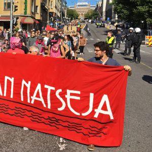 Turku ilman natseja -mielenosoitus.