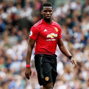 Paul Pogba Manchester Unitedin paidassa.