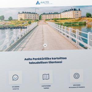 Aalto Pankkiiriliikkeen nettisivu.
