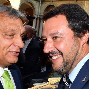 Unkarin pääministeri Viktor Orbán ja Italian sisäministeri Matteo Salvini tapasivat Milanossa.