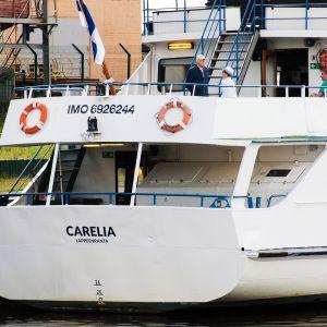 M/S Carelia Viipurin satamassa.