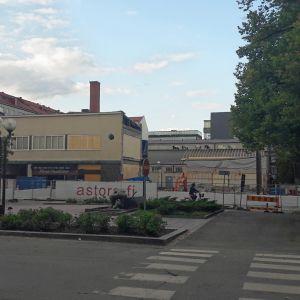Omenahotelli rakennustyömaa Juhana herttua Itäpuisto