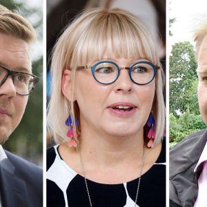 Antti Lindtman, Aino-Kaisa Pekonen ja Antti Kaikonen.