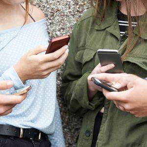 nuoret selaavat kännyköitänsä