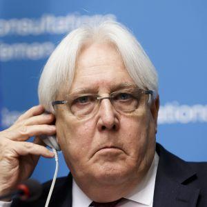 YK:n Jemenin erityislähettiläs Martin Griffiths.