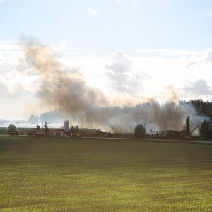 Kynttilätehdas savuaa Halikossa.