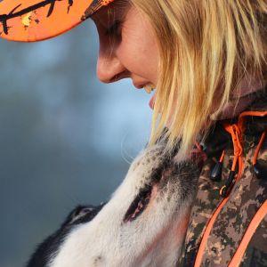 Hanna Rautio ja koira