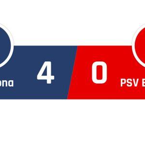 Barcelona - PSV Eindhoven 4-0