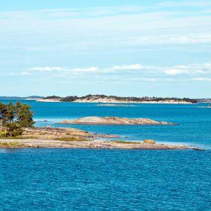 Maisema saaristomerellä.