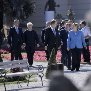 EU-johtajat Salzburgin huippukokouksessa 20.9.2018.