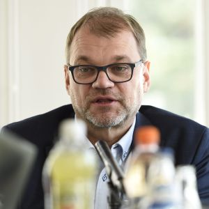 Pääministeri Juha Sipilä Ylen Pääministerin haastattelutunnilla Kesärannassa Helsingissä 23. syyskuuta.