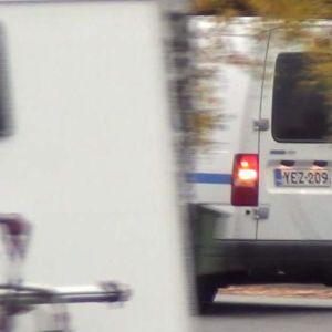 Kaupungin raha-auto, jota poliisi seurasi lokakuussa 2017..