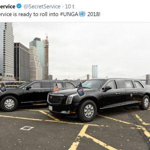 Yhdysvaltain presidentin uusi virka-auto Peto (Beast).