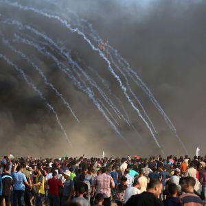 Mielenosoitus Gazan rajalla 28.9.2018.