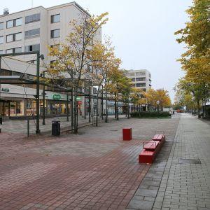Järvenpään keskustassa sijaitseva Janne-kävelykatu.