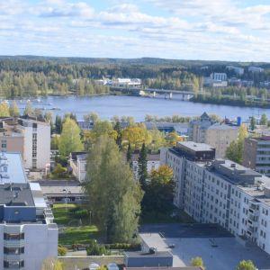 Näkymä Naisvuoren näkötornista Graanin suuntaan 2018.
