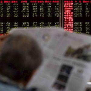 Pörssikursseja Pekingissä 12. lokakuuta.