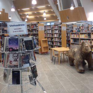 Kontiolahden kirjasto remontin jälkeen lokakuussa 2018.