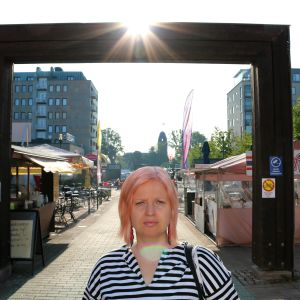 Kaisa Hiltunen Joensuun keskustassa loppukesästä 2018.