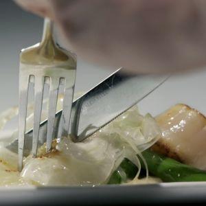 Fine dining -annos lautasella.