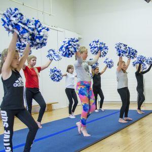 Syysloma, cheerleading, jumppa, Kajaani