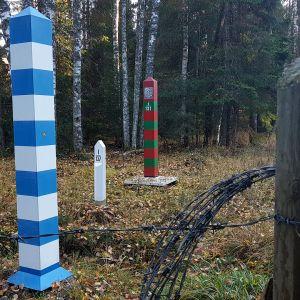 Suomen ja Venäjän raja Nuijamaalla.