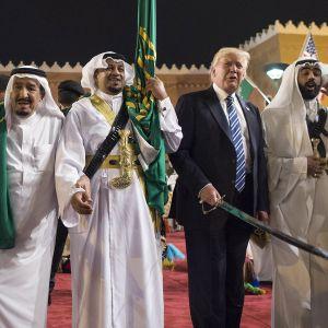 Donald Trump Riadissa toukokuussa 2017.