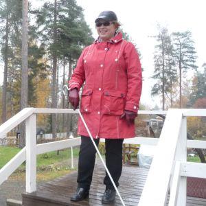 Tuula Hartikainen on innokas ulkoilija.