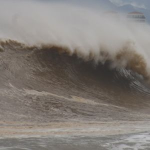 Meri myrskysi ennen hurrikaani Willan saapumista Puerto Vallartan kaupunkiin Meksikossa 23. päivä lokakuuta 2018.