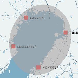 Perämeren kaari. Suomen Kokkolasta Ruotsin Skellefteåån ulottuvalla rannikkokaistaleella asuu lähes 700 000 ihmistä