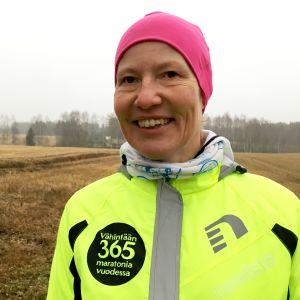 Karvialainen Iina Puskala juoksi maratonin vuoden ajan joka päivä.