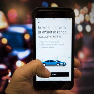 Uber apps jolla voi ruveta uberkuskiksi.