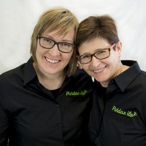 Puhtaan Ilon omistajat Suvi Toivola (vas.) ja Eeva-Leena Lappalainen.