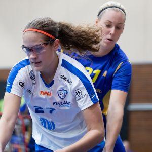 Oona Kauppi Ruotsi-ottelussa 1.9.2018.