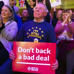 Brexitiä vastustava mielenilmaus Lontoossa 13. marraskuuta.