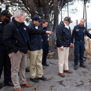 Donald Trump vieraili Malibun maastopaloalueella 17. marraskuuta.