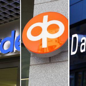 Nordea OP Danske Bank -logot