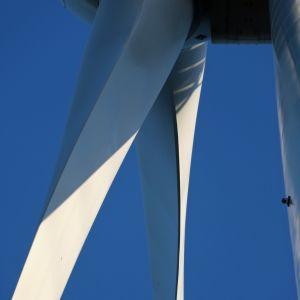 Tuulivoimalan potkuri.