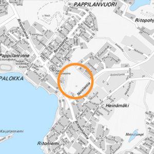 Kaavoitettavan asuinalueen sijainti Palokan Norolassa.