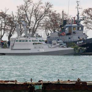 Takavarikoitu ukrainalainen alus.