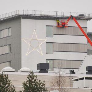 Kajaani uusi sairaala joulutähti talvi