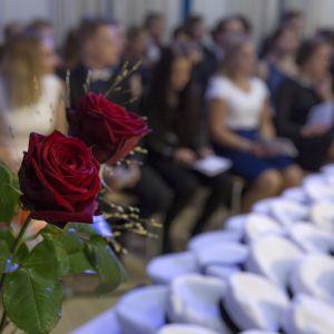 Ruusuja ja ylioppilaslakkeja