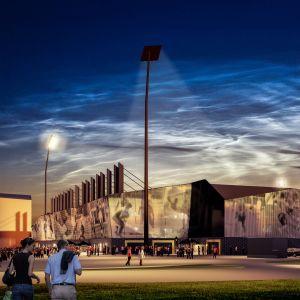 Havainnekuva Kuopioon suunnitellusta uudesta stadionista.