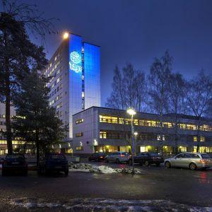 Ulkokuva Tampereen yliopistosairaalasta.