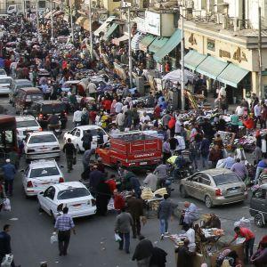 Ruuhkaa Kairossa Egyptissä