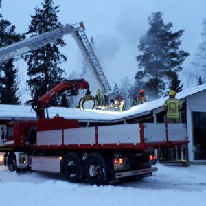 Tulipalo ensi- ja turvakoti Orvokissa Oulussa.